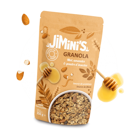 Granola miel, amandes & poudre d'insectes