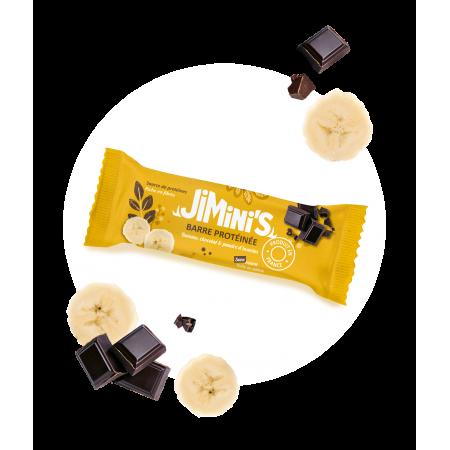 Barre protéinée banane, chocolat & poudre d'insectes