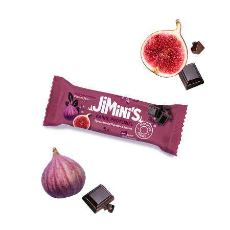Barre protéinée figue, chocolat & poudre d'insectes