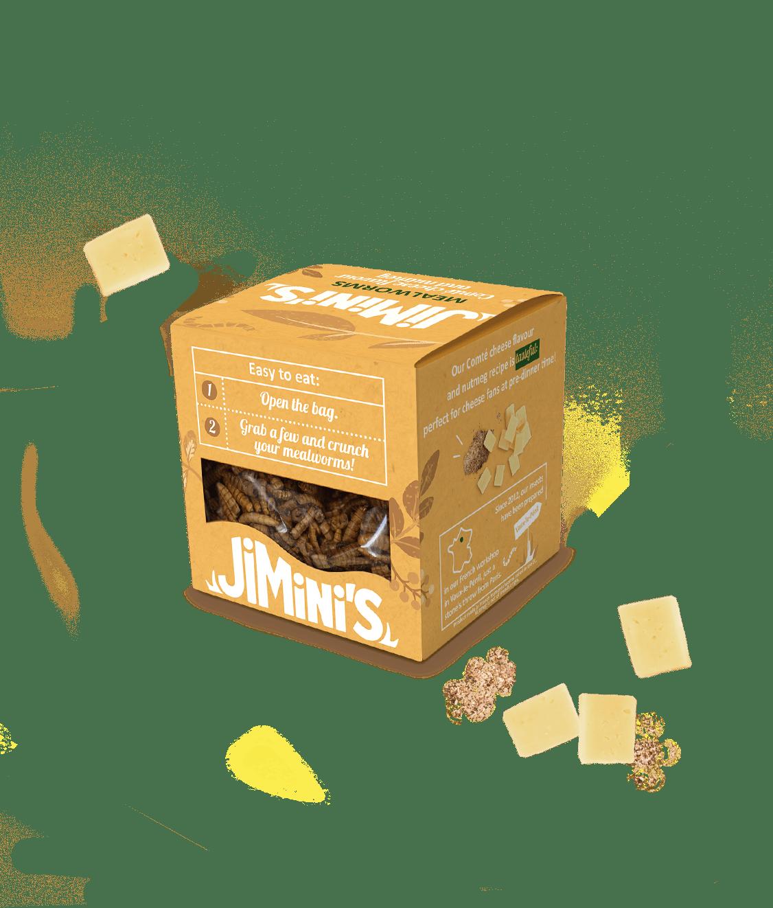 Mealworms Comté cheese flavour & nutmeg
