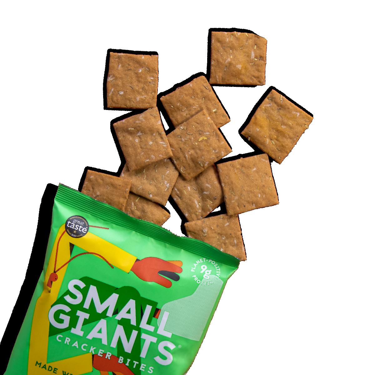 Cricket powder thyme and oregano crackers