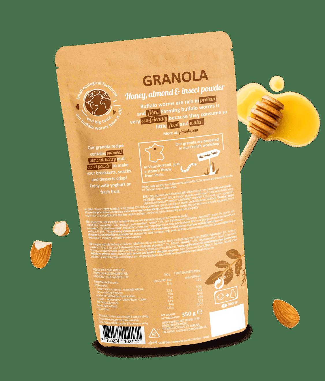 Granola al miele e mandorle
