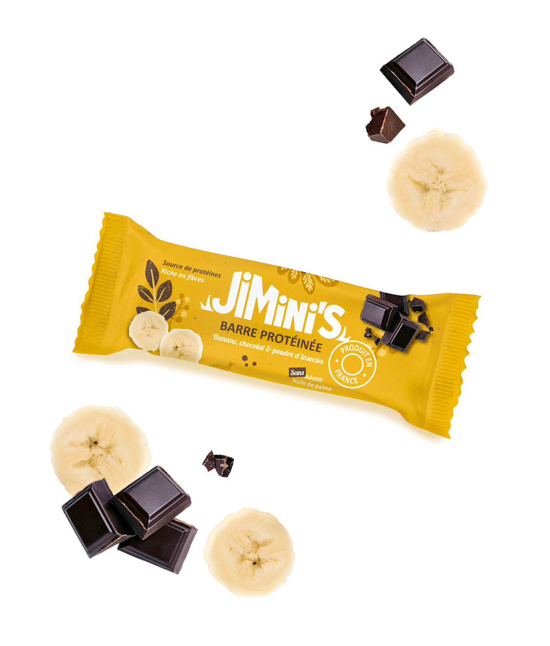 Barre protéinée banane et chocolat