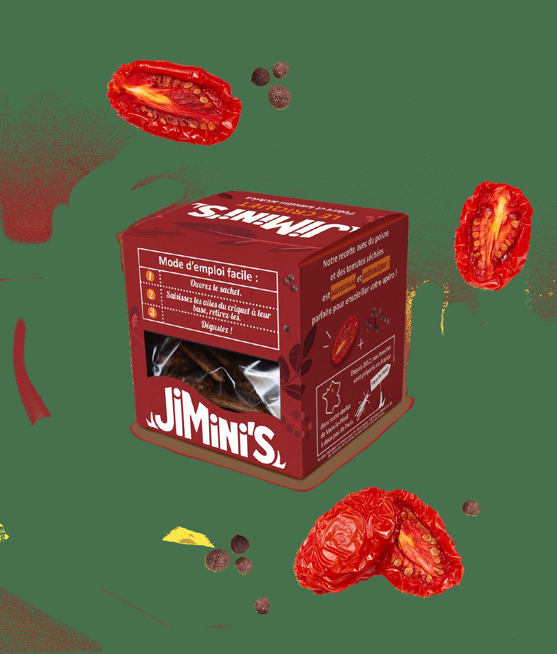 Le criquet poivre et tomates séchées